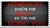 Homework Stamp by TheBaileyMonster
