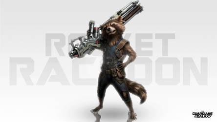 Rocket Raccoon Wallpaper [HD] by DavidMellado