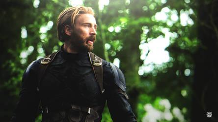 Captain America Retouch by DavidMellado