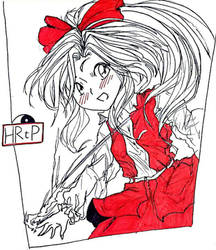 HRtP's Reimu but I can draw better than ZUN by Lavandachan