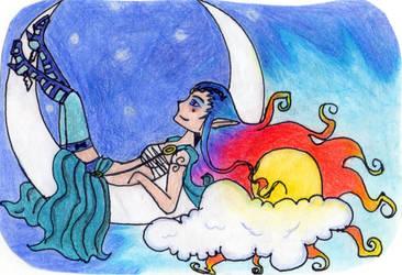 Sleeping in the moon by Emma030