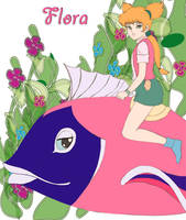 flora and her fish by tjaden68