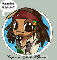 ++PotC-Chibi Captain Sparrow++ by Kat-Nyan
