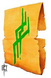 Sheet of Parchment with Azlanti rune by CarlosTorreblanca