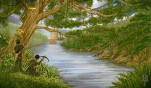 River Scene Ambush by CarlosTorreblanca