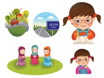 Children's Book Vignettes by esmagenc