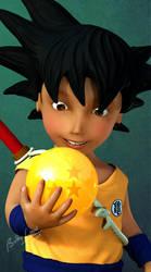 Dragon Ball 'Goku view 1' by Bobbyliauw