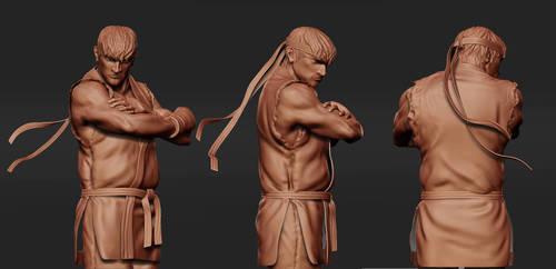 Ryu 'Zbrush Grab 2' by Bobbyliauw
