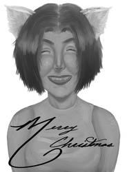 Merry Christmas (Black and White) by Kikomazumi
