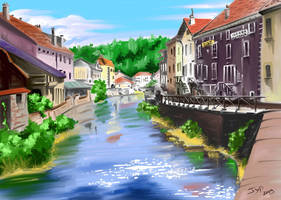 Les quais de Moyenmoutier by jypdesign
