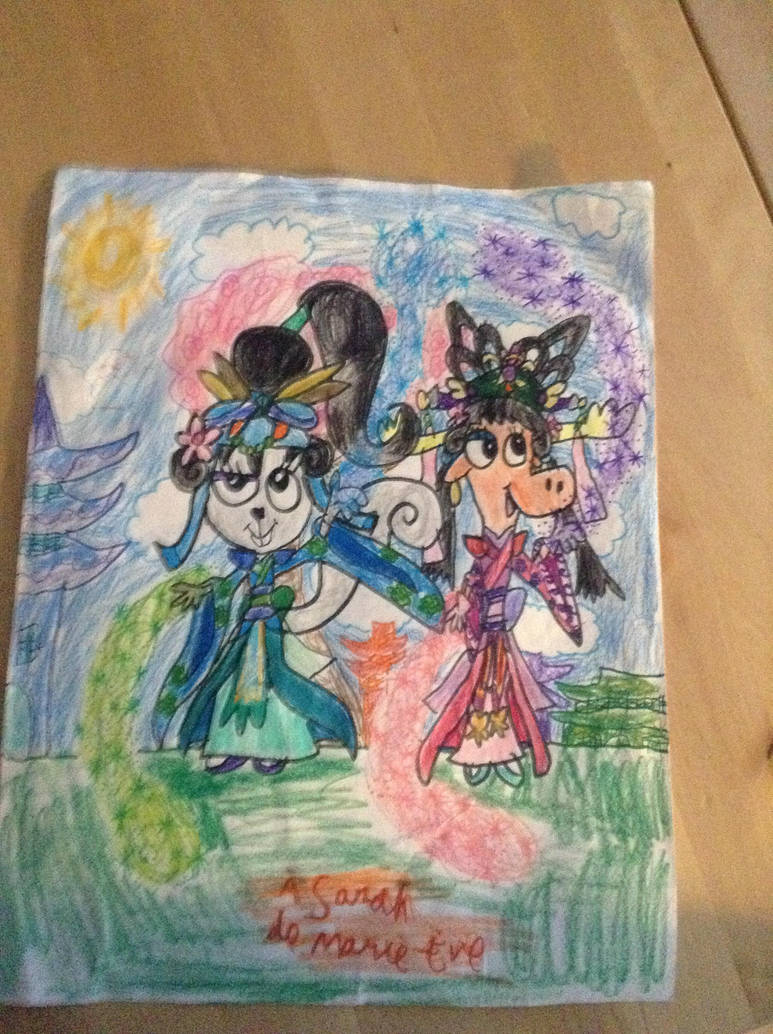 Huaxing and Shanying Drawing by Mead1992