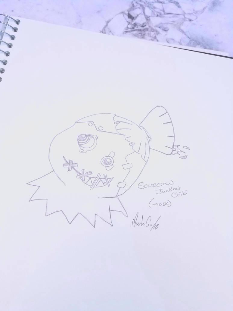 Overwatch-Chibi Scarecrow Junkrat (mask) by MasterGo
