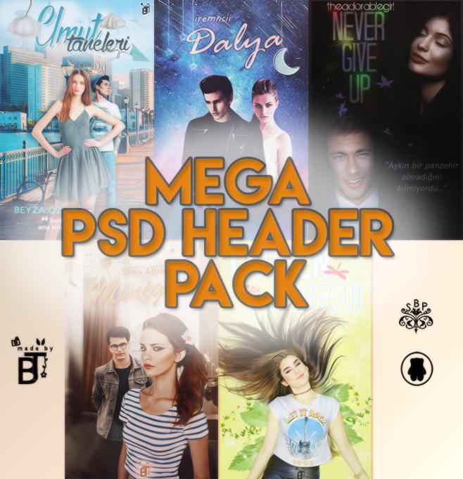 Mega PSD Header Pack by BeyzaT by BeyzaT