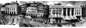 Picadilly Circus by SandraInk