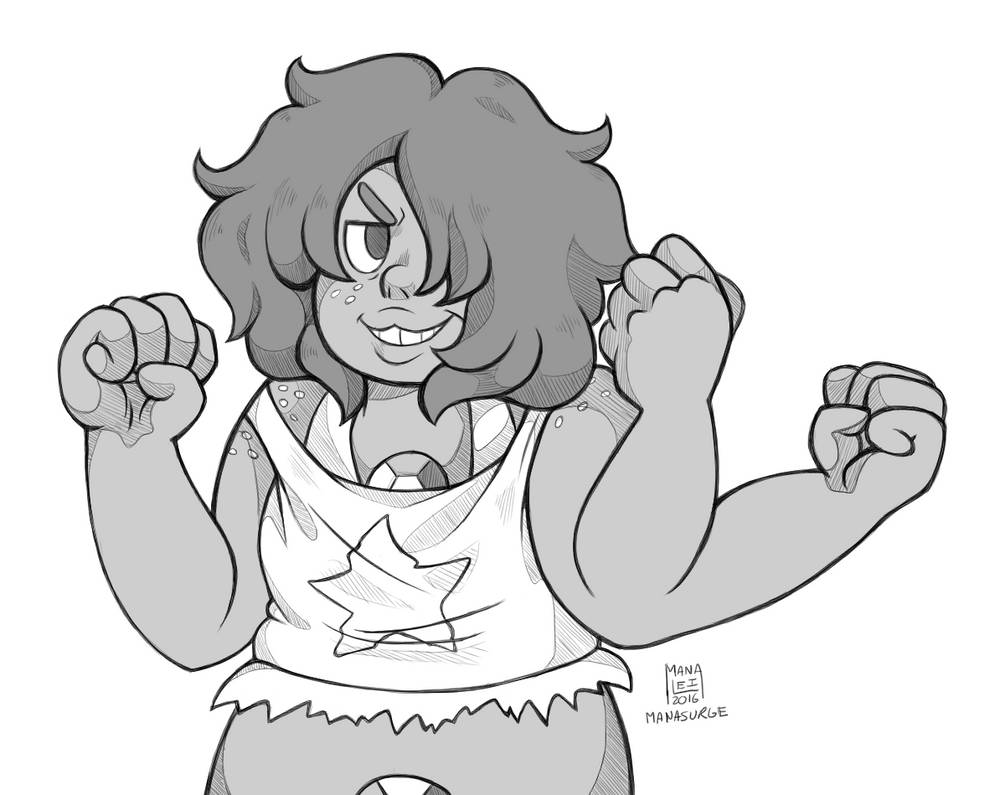 Once again I'm avoiding my responsibilities (aka other drawings) and felt like doodling some Smoky Quartz instead (Put up your dukes!) I was just having fun with lines tbh.