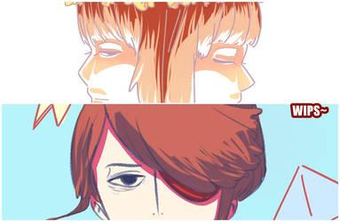 Drama and Kubo [WIPs] by Hotaro-sui