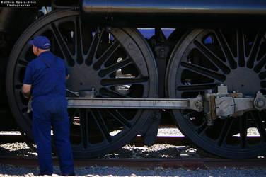 Oiling the 'Big Wheel' by mattrawls