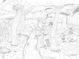Mushroom Ravine of Fae by Winter-Wisp