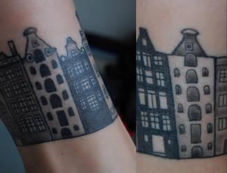 Houses tattoo by Vegasbride