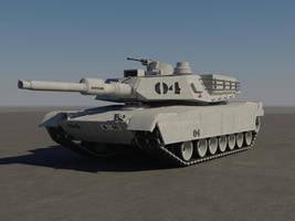 M1A2 Abrams Tank Textured by aytekaman