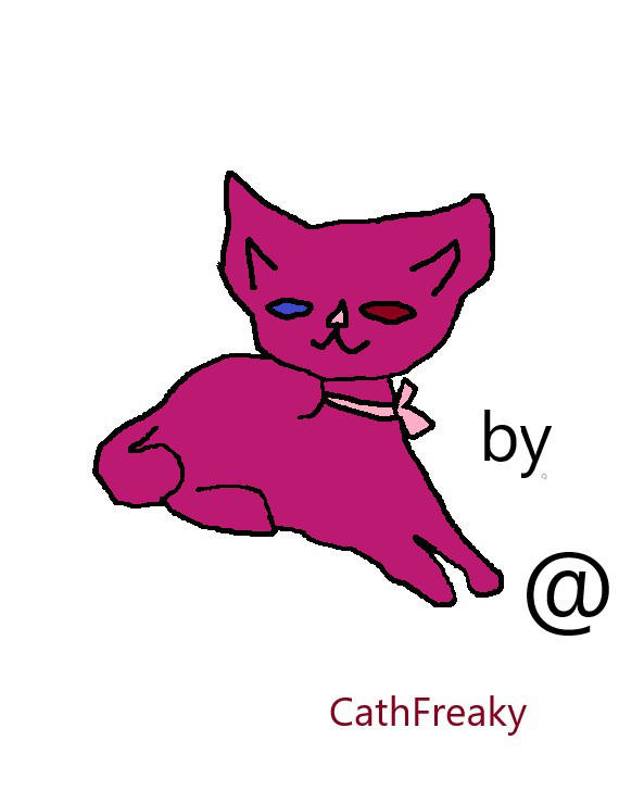 kitty chillin  - colored version - 1 by CathFreaky
