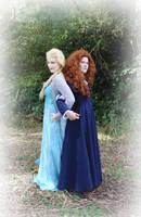 Elsa and Merida by Meerkatie