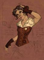 Steampunk Girl by Larkie-Star