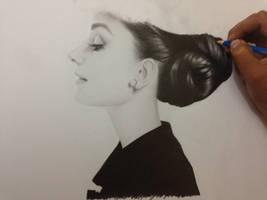 Audrey Hepburn wip by ChrisHerreraArt