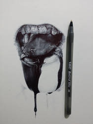Ballpoint Sketch by ChrisHerreraArt