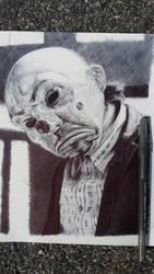 Ballpoint Joker Sketch by ChrisHerreraArt