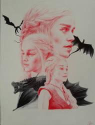 Daenerys Targaryen Pen by ChrisHerreraArt