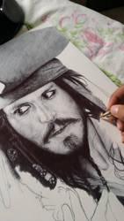 Captain Jack Sparrow WIP by ChrisHerreraArt