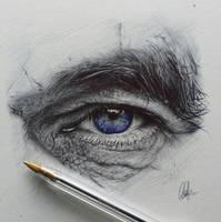 Commission Ballpoint Eye by ChrisHerreraArt