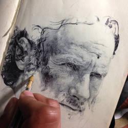 Rick Grimes WIP by ChrisHerreraArt
