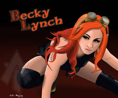 Becky Lynch Drawing by AllenThomasArtist