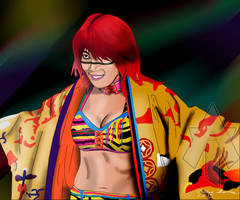 NXT Diva Asuka Drawing by AllenThomasArtist