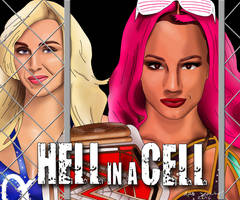 WWE Hell in a Cell 2016 Drawing by AllenThomasArtist