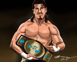 Eddie Guerrero Painting by AllenThomasArtist