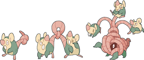 THE RAT KING LINE: Rattot, Rattouse And Rattangled by GalifiaStudios