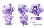 Gem OC: Lilac Sapphire by Beetlejulia