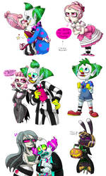 Horror Circus Doodles by Beetlejulia