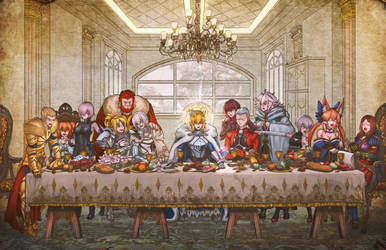 Fate Grand order: the last supper by Chewiebaka