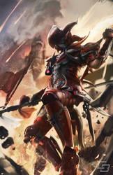 Final Fantasy XIV: dragoon armor by Chewiebaka