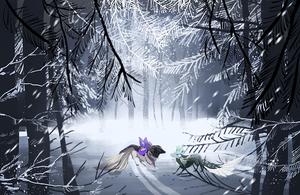 { Esk iPad Doodles } Winter Road by Zoomutt