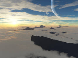 Terragen 2 - Cloud sea by powerswithin