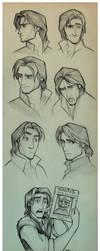 Flynn Rider Sketches by EternaLegend