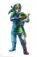 Link - Goddess Harp by EternaLegend