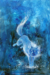 Snow Wolf by EternaLegend
