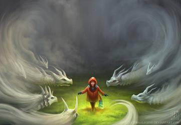 Mist Dragons by EternaLegend