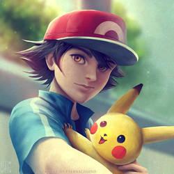 Ash Ketchum selfie by EternaLegend